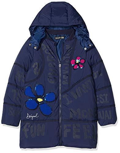 Desigual Coat Cerezas Abrigo, Azul Navy 5000, 8 años para Niñas