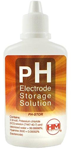 HM Digital ph-stor electrodo de pH solución de almacenamiento para uso con PH-200o ph-80, 60cc Volumen