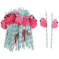 Asremit Drinking Straws Paper Straws Striped Straws Color Caramelo para Fiestas Wedding Rainbow 19.7 cm