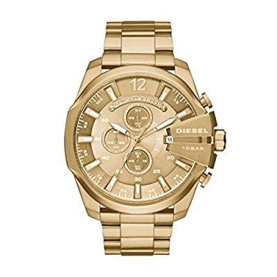 Diesel DZ4283 Mega Chief Watch, Gold