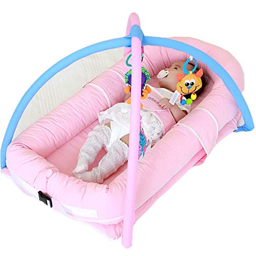 ZLMI Krippe Multi-Funktion Neugeborenen Krippe Tragbaren Schlaf Schatz Baby Travel Bed,A