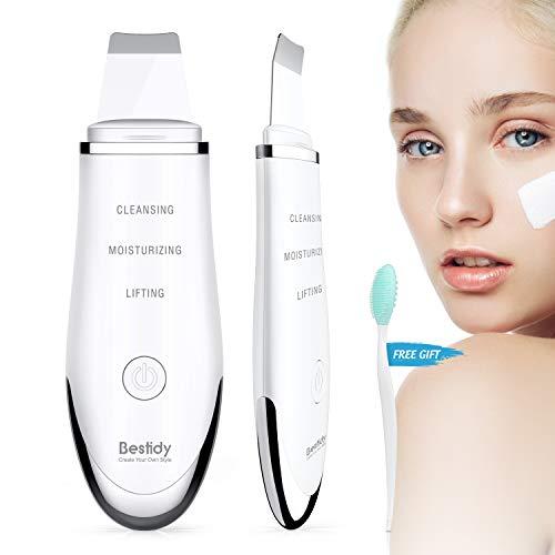 Ultraschall Gesichts Haut Scrubber Skin Mitesserentferner Elektrischer Poren Reiniger Gerät Mitesser Entferner Abbau-Wäscher USB Charge (Weiß)