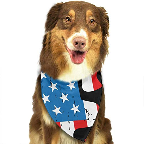 Gxdchfj American Flag Man Climbs The Telephone Pole Triangle Neckerchief Puppy Triangle Triangle Bibs Scarfs for Pet Dogs American Telephone