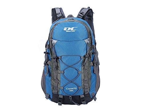 Diamond Candy Zaino da Trekking Outdoor Donna e Uomo con Protezione Impermeabile per alpinismo arrampicata equitazione ad Alta Capacità borsa da viaggio,Multifunzione, 40 litri, Blu + + Una copertura di zaino