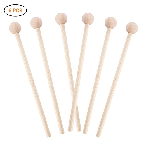 EisEyen 6 Stück Percussion Sticks zum Energy Chime, Xylophone, Wood Block, Glockenspiel and Bells