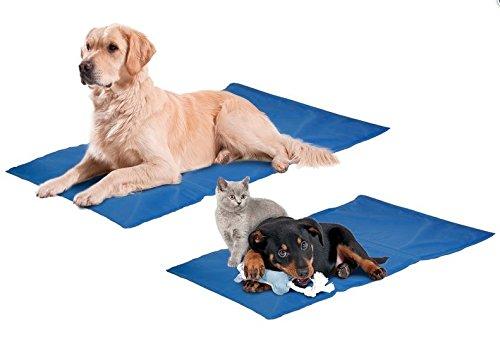 Hunde Kühlmatte Kühlkissen Blau Liegematte Hundematte Matte Hunde Matratze Kühldecke Blau -Kühlung ohne Kühlschrank-