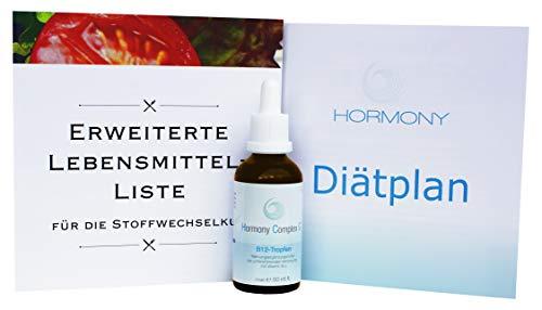 Hormony Complex G B-12 Tropfen inkl. erweiterter Lebensmittel-Liste, 50ml Flasche für hCG Diät (Stoffwechselkur), Markenprodukt