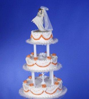 Cake Company Tortenständer 3-Etagen | Stabile Kuchen-Platten aus Kunststoff | Durchmesser: 20, 30, 40 cm | Runde Tortenplatte | Deko | Für mehrstöckige Torten | Hochzeit, Geburtstag & Taufe - Hochzeit Kunststoff-platten