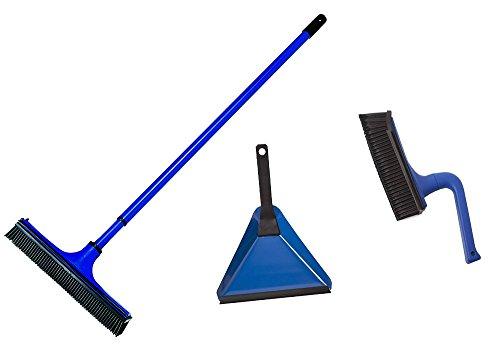 Set aus V7 Universalbesen Besen, Handfeger & Kehrblech blau
