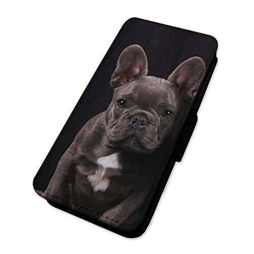 Cute French Bulldog Dog–Custodia ad aletta in pelle copertura di carta Apple Iphone 7
