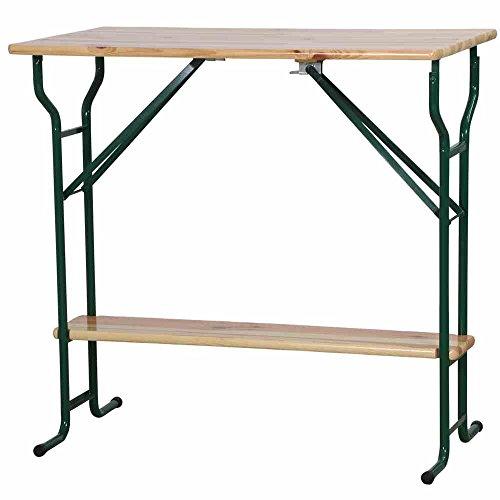 H.G. Tisch Stehtisch Jumbo mini 112 x 70 cm mit Fußablage, braun