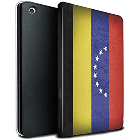 STUFF4 PU Pelle Custodia/Cover/Caso Libro per Apple iPad Mini 1/2/3 tablet / Venezuela/Venezuelana / America Bandiera disegno