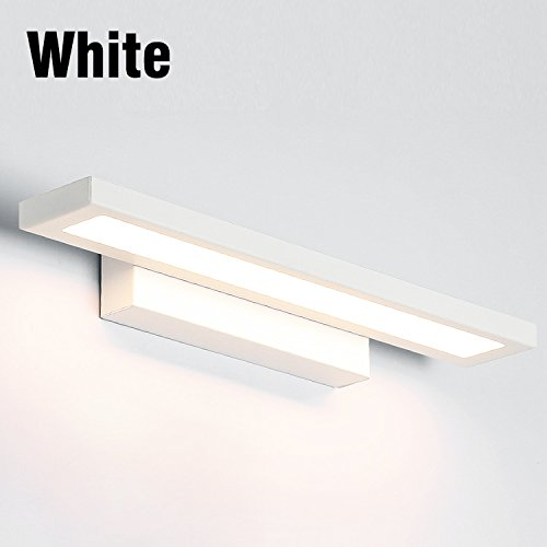 Lwyjrbd applique/lampada da parete/lampade da parete per bagno luci specchio a led impermeabile 5w 8w 11w ac85-265v lampada da parete in acrilico illuminazione bagno, e 8w 400mm bianco freddo