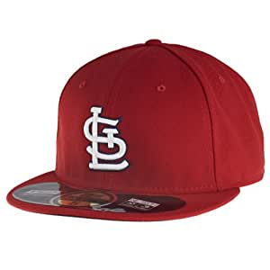 New Era Cap MLB Authentic Boston Red Sox 59FIFTY Fitted Adult Baseball Cap, Navy / Red, 7