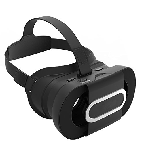 Virtual Reality Headset, JoyGeek Portable VR Glasses Fold 3D Google Cardboard V2.0 with Headband for 4-6 inch iPhone X/8/8 Plus/7/7 Plus/6s/6s Plus/6 and Android Smartphones
