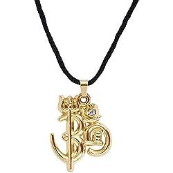 Shining Jewel Mahadev Om Trishul Shiv Ling Gold Unisex Pendant (SJ_2163)
