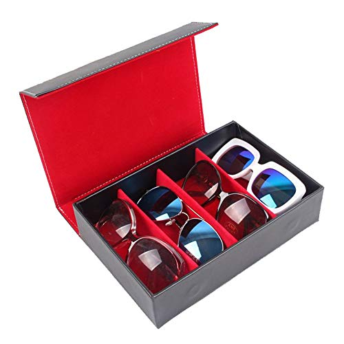 Sonnenbrillen Mode Eyewear Display Aufbewahrungskoffer Tray Sunglasses Display Case Sunglass (Farbe : Rot)