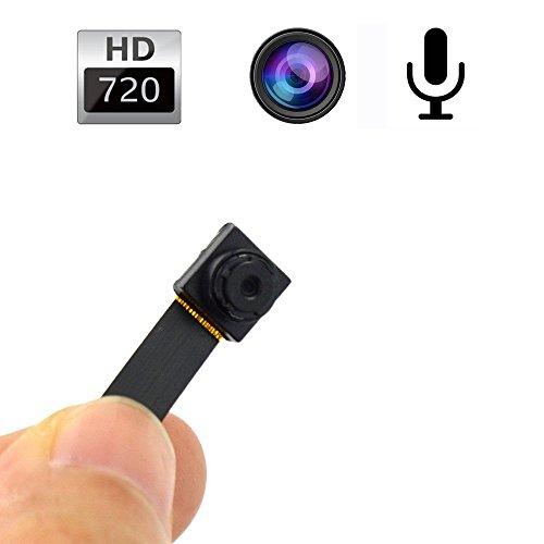 Mengshen 1280x720P HD mini botón de la cámara espía oculto Cámaras agujero de alfiler Mini Seguridad DVR activado por movimiento de la batería incorporado MS-HC16