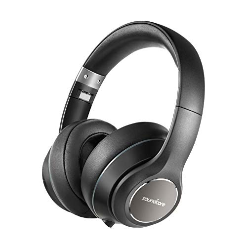 Anker Soundcore Vortex Cuffie Over-Ear Senza Fili, Autonomia di 20 Ore di Riproduzione, Bluetooth 4.1, Suono Stereo Hi-Fi, Nero