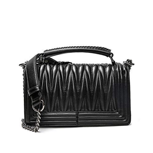 HZJ Femme Sac À Main Porte Sac Porte-Sacs Embrayage Mode Mignon Bandoulière Épaule Fille Sacs PU Cuir Noir