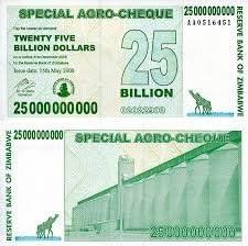 Generic 25 Billion Dollar of Zimbabwe