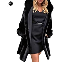 Abrigo de algodón de piel sintética de invierno, Chaqueta de piel sintética de visón delgado