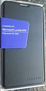 Original Black Color Flip Cover Case for Microsoft Lumia 540 (Not compatible with 540 Black Color Mobile)(Compatible only With Lumia 540 Blue,White and Orange color Mobile)