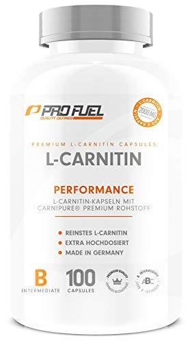 L Carnitin Kapseln Hochdosiert | 100% Carnipure® - Weltweit No.1 | 2000mg | Perfekt für Kraft- & Ausdauersportler - 100 Kapseln