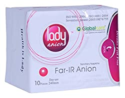 Lady Anion Sanitary Napkin Day Use Pack of 1