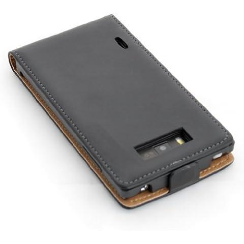 ECENCE LG Optimus L7 Funda Flip Case Cover negro + protector de pantalla incluido 14030405