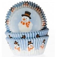 """Muffinförmchen, mit Aufdruck """"Snowman"""" - 50 Stück"""