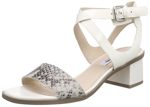 Clarks Ivangelie Ray, Damen Knöchelriemchen Sandalen, Beige (Natural Snake Combi Leather), 38 EU (5 Damen UK)