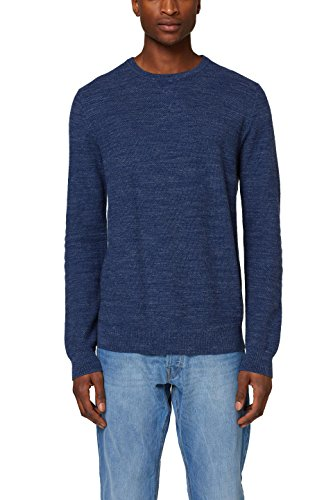 edc by ESPRIT Herren Pullover 127CC2I017, Blau (Navy 400), Medium