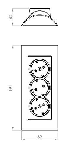 bif/ásico Enchufe multitoma trif/ásico o trif/ásico con LED 220.00V toma de tierra