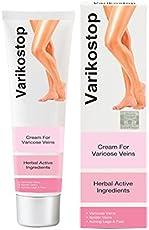 Indian Varikostop Cream 50gm Pack Help in Varicose Veins and Spider Veins.