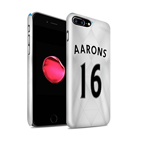 Offiziell Newcastle United FC Hülle / Glanz Snap-On Case für Apple iPhone 7 Plus / Townsend Muster / NUFC Trikot Away 15/16 Kollektion Aarons