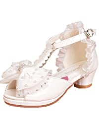 96070c52c4626 OPSUN Sandales Chuaussures Princesse Enfants Filles Ballerines à Bride  Chaussure Cérémonie Mariage Escarpin Babies