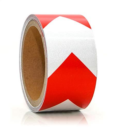 eyepower Reflektorband Selbstklebend 5m x 5cm Reflektierendes Klebeband Rot Weiß
