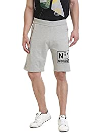 Rocx Men's Light Grey Workout Shorts With Zip-1