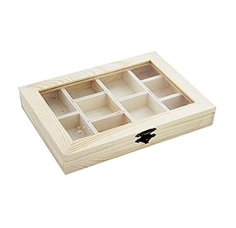 Holz Fach Aufbewahrungsbox Acryl Geschenk Paint Trinket Treasure Cute Dekorieren Zubehör Dachboden
