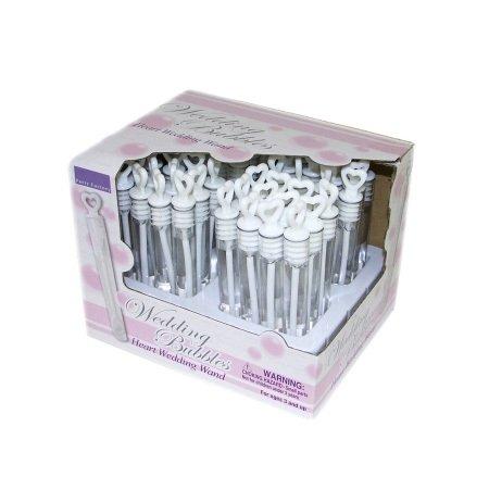 Unbekannt 48Seifenblasen Hochzeit Wedding Accessories Seifenblasenflaschen in Champagnerglasform, 72Stück