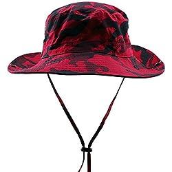 butterme Unisex exterior tiene Busch Sombreros Bucket tiene camuflaje tiene Ripstop Floppy Bucket Verano sombrero con banda de barbilla para senderismo pesca Actividades al aire libre
