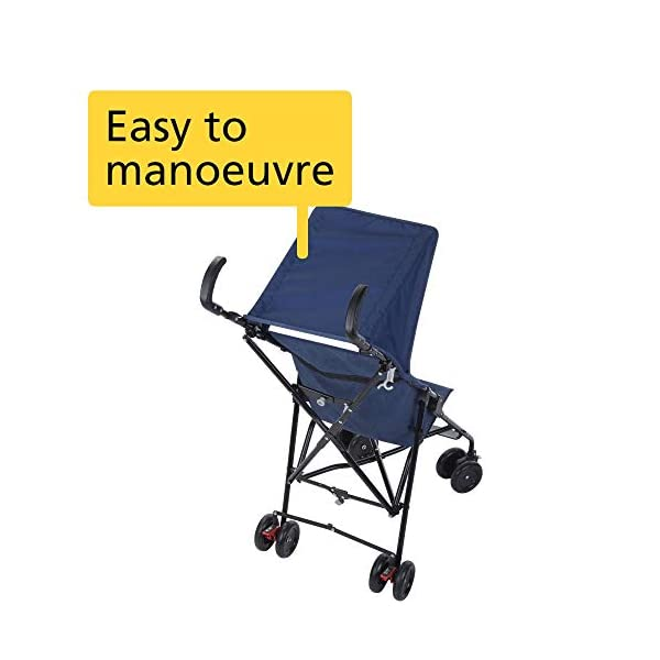 Safety 1st Peps Plus Canopy, Balein Blue Chic Safety 1st Easy to carry and store thanks to its ultra compactness and lightweight Suspension on front wheels makes for a smooth ride Highly manoeuvrable thanks to front wheels that can be fixed and swivelling 3
