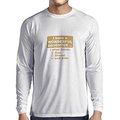 Maman Papa Fille Halloween - T-Shirt Manches Longues Homme J'ai une fille