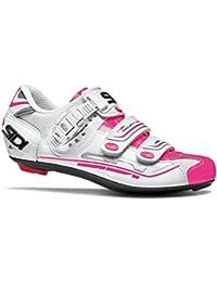 Sidi Genius 7–zapatos de ciclista Mujer Blanco/Rosa, unisex, 40