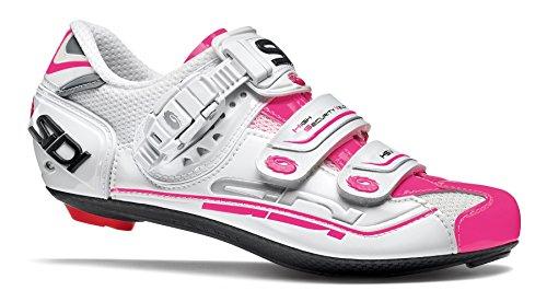 Sidi Genius 7 Fahrradschuhe Damen white/pink fluo Größe 39 2017 Mountainbike-Schuhe