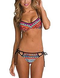 27066c9061c6 Costume da bagno da donna, Longra Nylon e spandex europeo e americano filo  di stile nazionale fionda Split bikini…