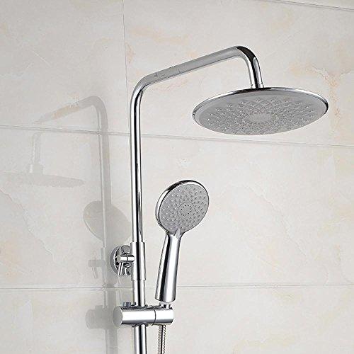 ZHGI Home improvement plumbing, design ergonomico è in grado di sollevare una doccia completa rubinetto, (277 Di Cristallo)
