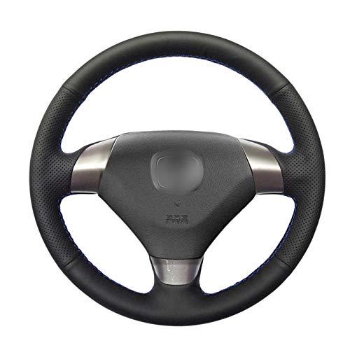 PSTPPZ Hand nähen Schwarze PU-Kunstleder-Auto-Lenkradabdeckungen Wickeln, für Honda Accord 7 Coupe 2003-2007 (Coupe Accord Honda 2005)