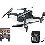 Amyove Drone Plegable con HD Camara, Drone Gran Angular, RC Quadcopter SJRC F11 GPS 5G WiFi FPV con cámara 1080P 25 min. Tiempo de Vuelo sin escobillas Selfie RC Drone Quadcopter 2 baterias